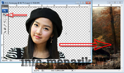 Mengganti Background Photo Dengan Extract 11