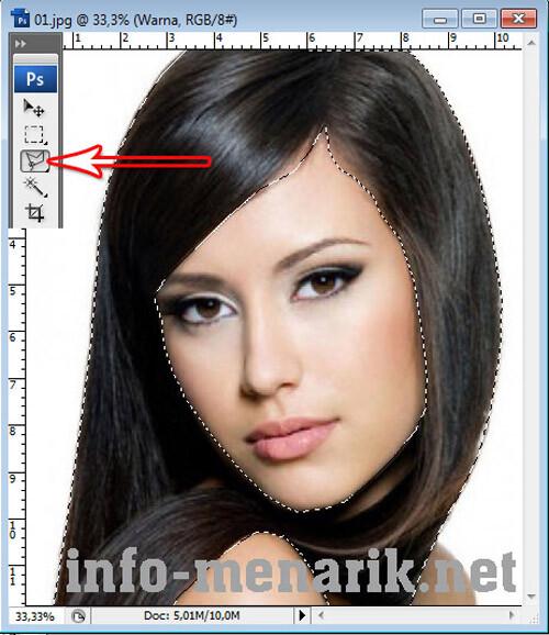 Mewarnai Rambut Dengan Photoshop 4