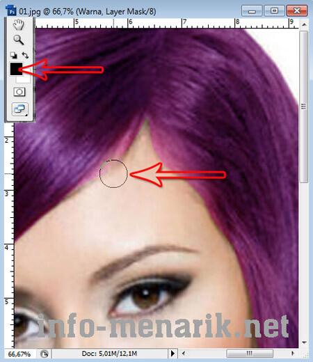Mewarnai Rambut Dengan Photoshop 7