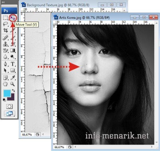 Photo Dengan Efek Retak Di Photoshop 2