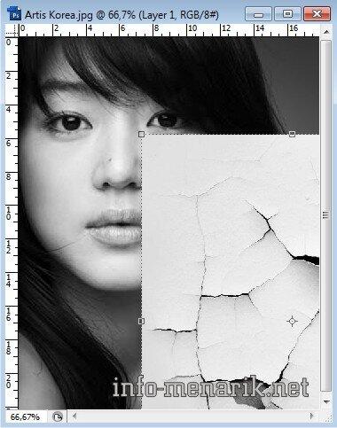 Photo Dengan Efek Retak Di Photoshop 3
