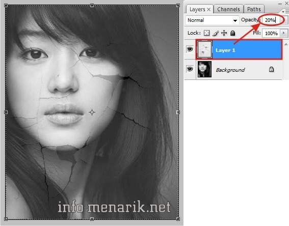 Photo Dengan Efek Retak Di Photoshop 4