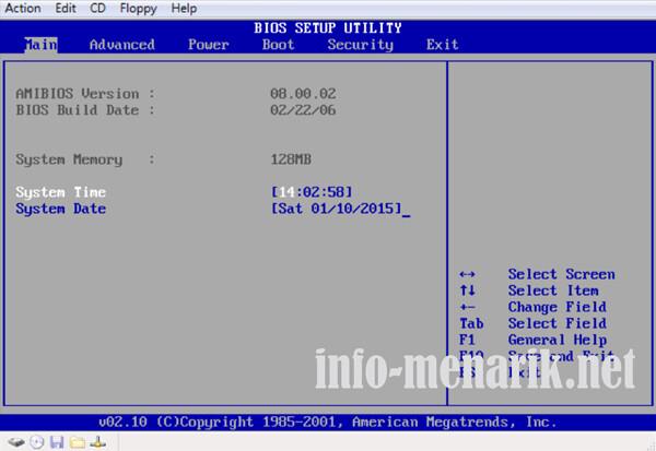 cara print screen tampilan bios 10