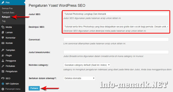 Cara Optimasi Kategori WordPress Agar SEO Friendly 3