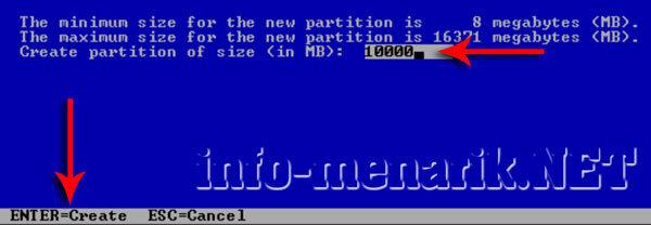 Cara Partisi Hardisk Ketika Install Windows 2