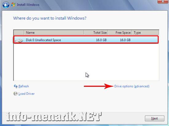 Cara Partisi Hardisk Ketika Install Windows 6