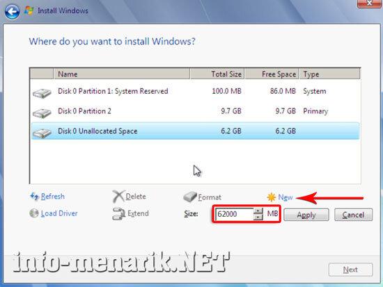 Cara Partisi Hardisk Ketika Install Windows 8