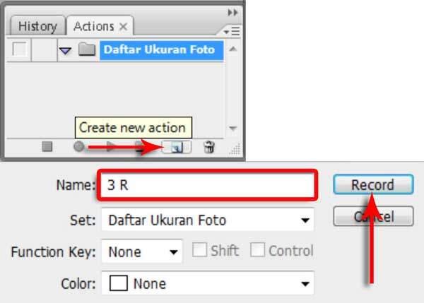 Cara Membuat Ukuran Foto Dengan Action Photoshop 3