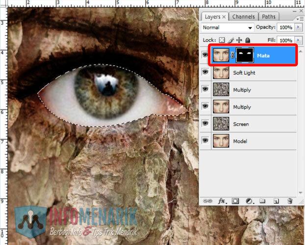Membuat Wajah Seram Bermain Dengan Blending Photoshop 14
