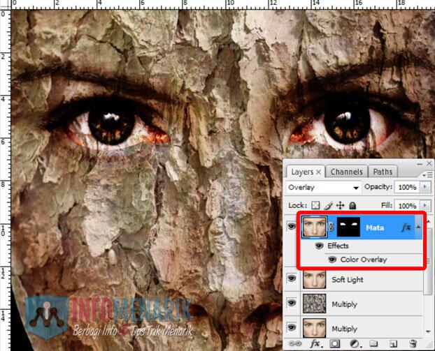 Membuat Wajah Seram Bermain Dengan Blending Photoshop 16