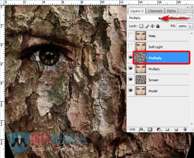 Membuat Wajah Seram Bermain Dengan Blending Photoshop 8