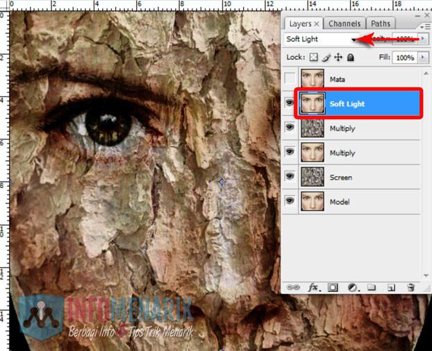 Membuat Wajah Seram Bermain Dengan Blending Photoshop 9