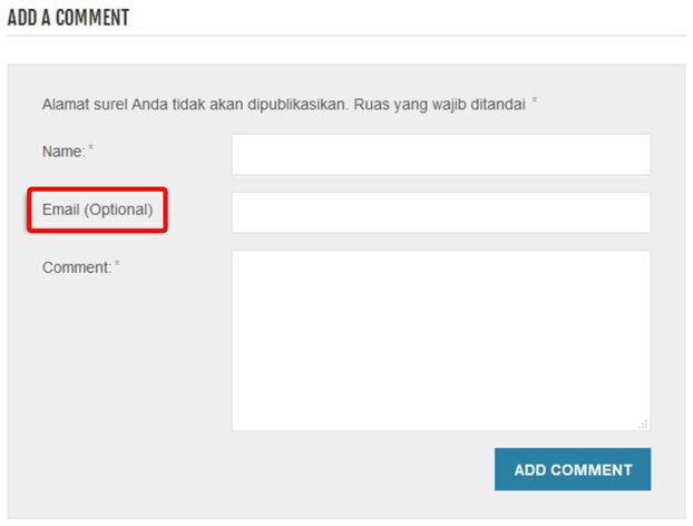 Merubah-Kolom-Email-Komentar-WordPress-Menjadi-Optional-2