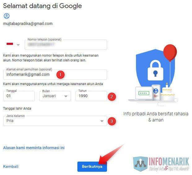 Cara Membuat Alamat Email Baru Di Gmail Yahoo Hotmail Info Menarik
