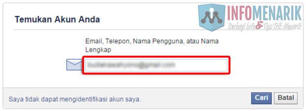 Cara Mengatasi Lupa Password (Kata Sandi) Akun Facebook Dengan Mudah 2