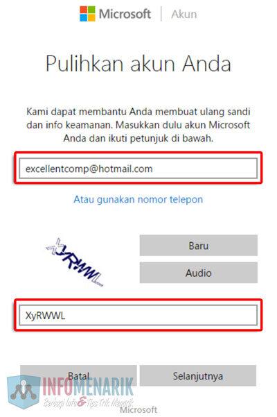 Cara Mudah Membuka Email Hotmail Yang Lupa Password (Kata Sandi) 2
