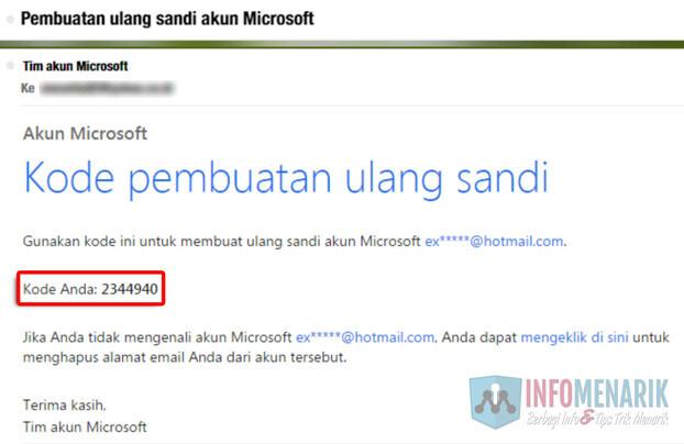 Cara Mudah Membuka Email Hotmail Yang Lupa Password (Kata Sandi) 4