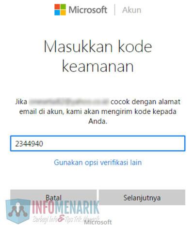 Cara Mudah Membuka Email Hotmail Yang Lupa Password (Kata Sandi) 5