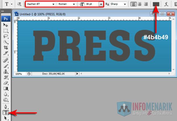 Cara Membuat Huruf Menjorok Kedalam Di Photoshop (LetterPress) 6