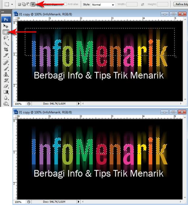 Cara Membuat Huruf Warna-Warni Efek Pelangi (Rainbow) Di Photoshop 12