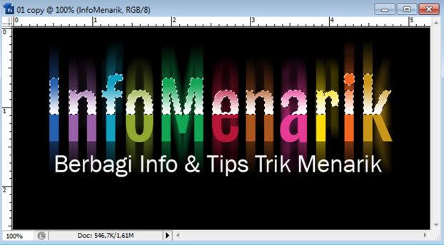 Cara Membuat Huruf Warna-Warni Efek Pelangi (Rainbow) Di Photoshop 15