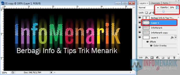 Cara Membuat Huruf Warna-Warni Efek Pelangi (Rainbow) Di Photoshop 16