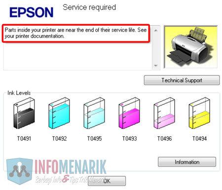 Cara Mengatasi Pesan Error Printer Epson R230 Blinking Reset