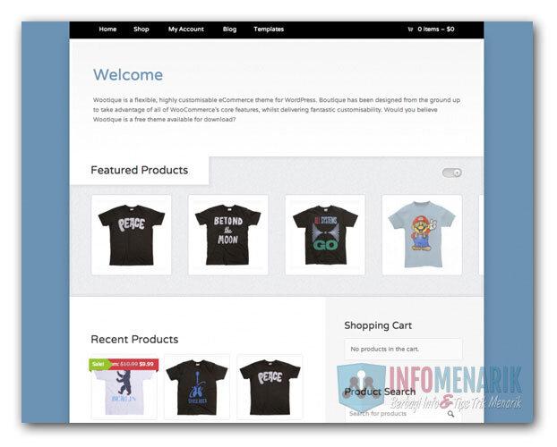 Download 6 Template Gratis Toko Online E Commerce Wordpress Info Menarik