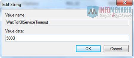 Cara Mempercepat Proses Shutdown Windows 5