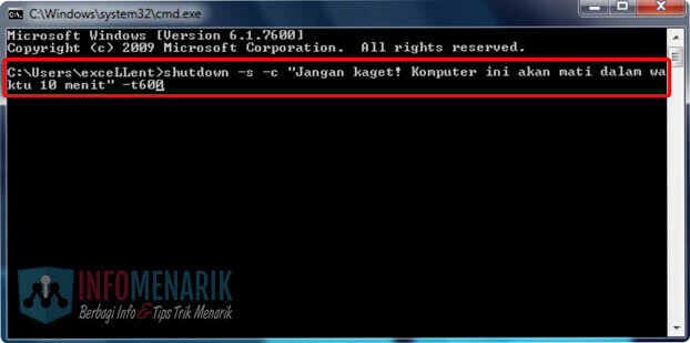Cara Shutdown Komputer Windows Timer CMD 3