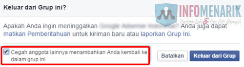 Cara Mengatasi Auto Invite Group Facebook 2