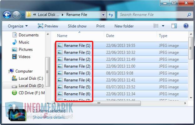 Cara Mengubah Nama Banyak File 2