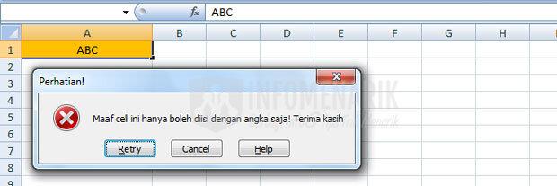 Cara Membatasi Cell Excel Diisi Dengan Angka (4)