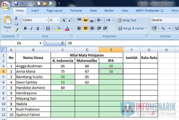 Cara Membuat Highlight Di Office Excel (4)