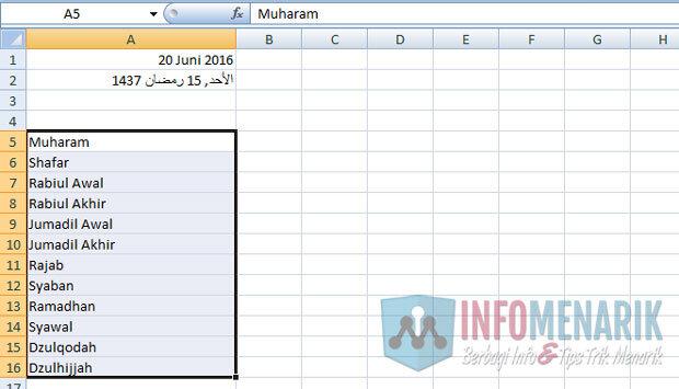 Cara Membuat Kalender Hijriyah Dengan Office Excel Konversi Manual