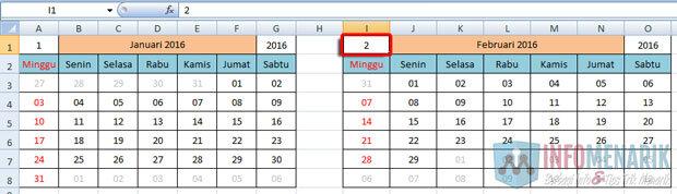 Cara Membuat Kalender Otomatis Di Office Excel (13)