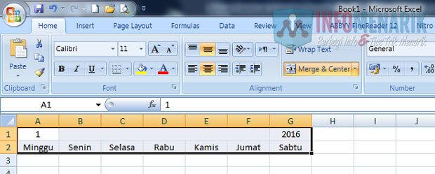 Cara Membuat Kalender Otomatis Di Office Excel (2)