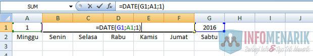 Cara Membuat Kalender Otomatis Di Office Excel (3)