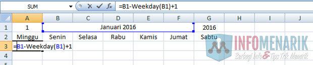 Cara Membuat Kalender Otomatis Di Office Excel (5)