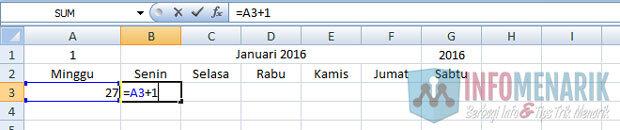 Cara Membuat Kalender Otomatis Di Office Excel (7)