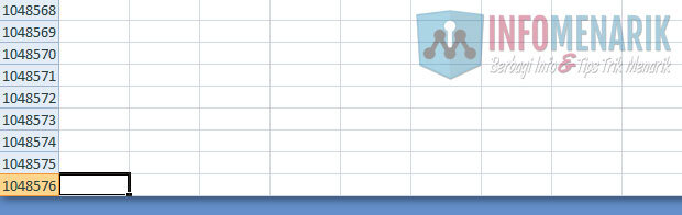 Cara Mengetahui Jumlah Baris dan Kolom Excel (2)