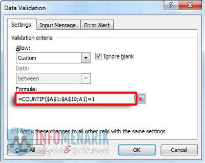 Cara Menghindari Duplikat Data Di Office Excel (3)