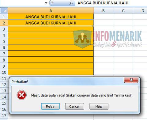 Cara Menghindari Duplikat Data Di Office Excel (5)