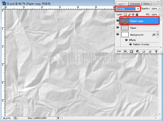 Cara Membuat Efek Kertas Kusut Photoshop | cara efek foto