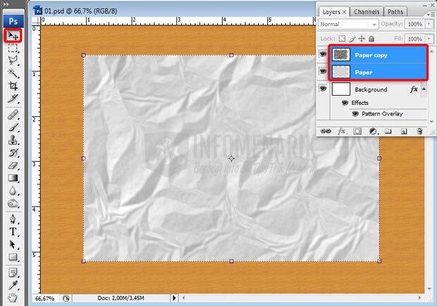Belajar Photoshop : Membuat Efek Kertas Kusut (Lecek ...