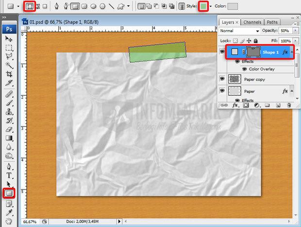 Cara membuat efek kertas lecek
