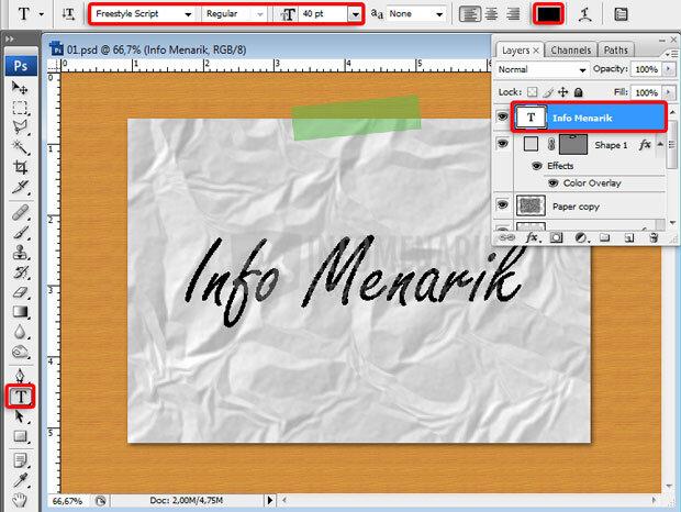 Cara Membuat Efek Kertas Kusut Di Photoshop (14)