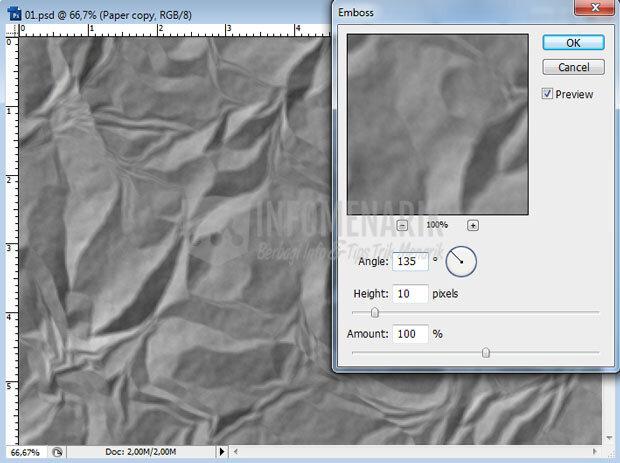Cara Membuat Efek Kertas Kusut Di Photoshop (8)