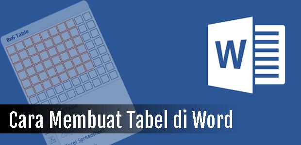 Cara Membuat Tabel Di Office Word (0)
