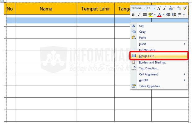 Cara Membuat Tabel Di Office Word (10)